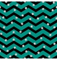 Chevron zigzag black and mint seamless pattern vector image vector image