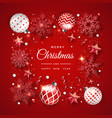 christmas background with shining snowflakes vector image