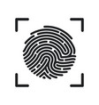 circle fingerprint icon design for app finger vector image