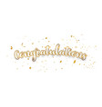 congratulations gold celebration background with vector image