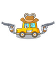 cowboy character clockwork car for toy children vector image
