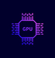 cpu gpu processor chip icon vector image vector image