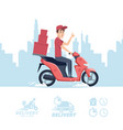 delivery man cartoon delivery man on vector image vector image