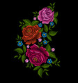 embroidery peonies vector image vector image
