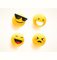 emoji set for web and apps vector image vector image