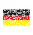 flag of germany made of hearts vector image