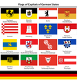 Flags of capitals of German states vector image vector image
