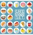 Food flat shadow vector image vector image