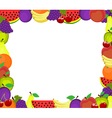 frame of fruits vector image