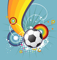 Funky football design vector image vector image