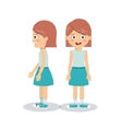 girl character design vector image