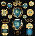 golden sale badges and labels retro vintage vector image vector image
