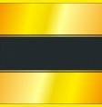 golden stripe with black background vector image