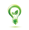 Green bulb eco energy concept vector