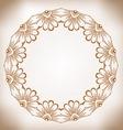 Hand-drawn cute round floral frame Vintage frame vector image