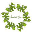 Hand drawn summer wreath
