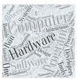 hardware development and computer programming Word vector image vector image