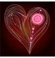 Heart line work vector image