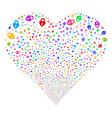 heart lock fireworks heart vector image vector image