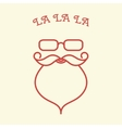 Hipster Santa Claus Card vector image vector image