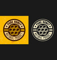 honeycomb set two colored styles emblem vector image