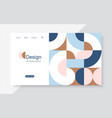 horizontal banner with simple geometric forms