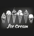 ice cream set hand drawn vector image