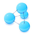 interaction molecule icon isometric 3d style vector image vector image