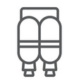 jetpack line icon astronomy and technology vector image vector image