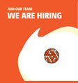 join our team busienss company golfball we are vector image