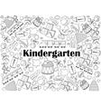 Kindergarten colorless set vector image vector image
