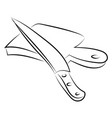 knife drawing on white background vector image vector image