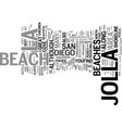 la jolla san diego text background word cloud vector image vector image