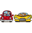 malicious driver cartoon vector image