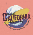 mavericks california half moon bay famous wave vector image