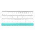 measuring rulers vector image