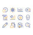 message face biometrics and chemistry lab icons vector image vector image