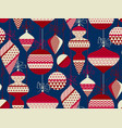 nordic red and blue xmas decor repeatable motif vector image