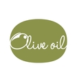 olive oil label design vector image
