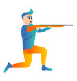 on knee sport shooting icon cartoon style vector image vector image