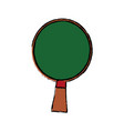 ping pong racket green wooden sport hobby vector image vector image