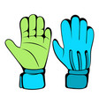 protective soccer gloves icon icon cartoon vector image vector image