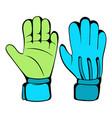 protective soccer gloves icon icon cartoon vector image vector image
