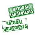 Realistic Natural Ingredients rubber stamp vector image vector image