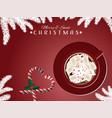 red mug of hot chocolate vector image vector image