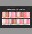 rose gold gradient template icon vector image vector image