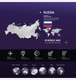 russia map illstration vector image