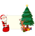 santa holding piece of paper vector image