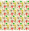 seamless pattern garden supplies vegetables vector image vector image
