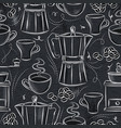 seamless patterns of coffee set vector image